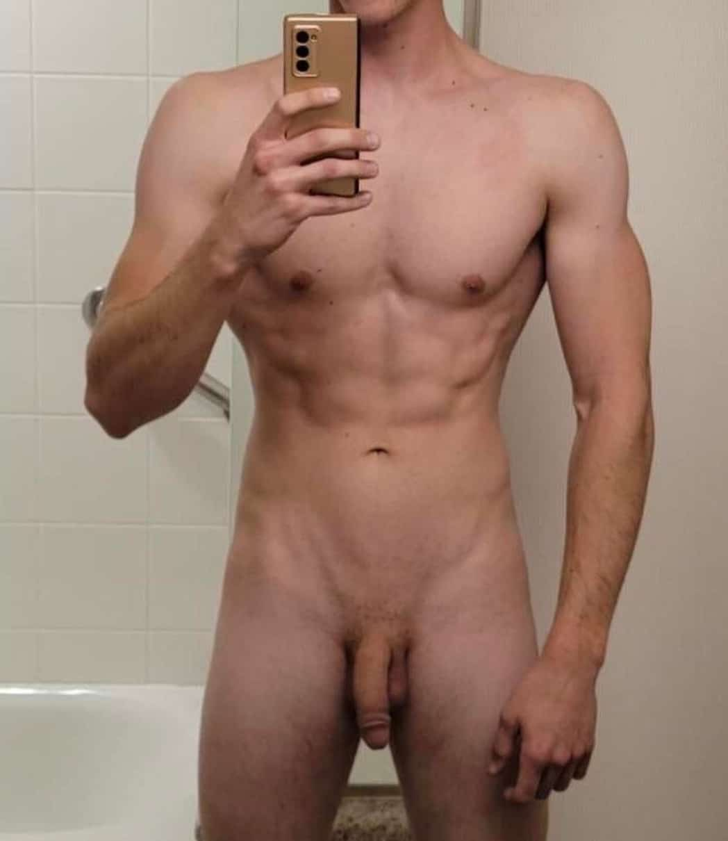 Muscle boy with a long cock